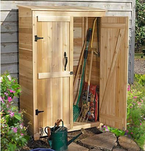 Tool storage, instead of the ugly shed