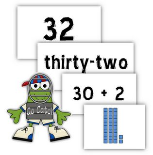 Go Catch! Place Value Game. Free printable that shows all different ways to represent a number.