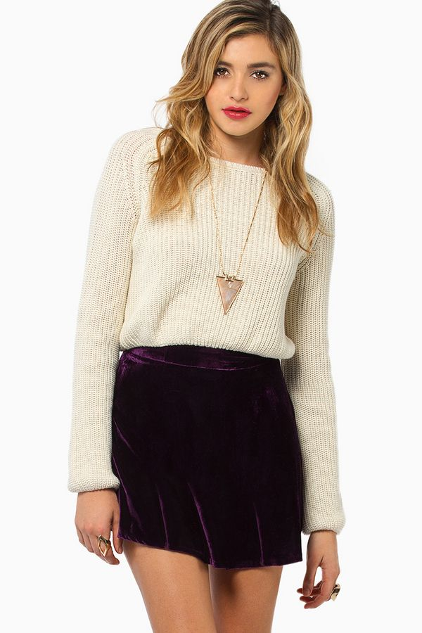 Velour skirts are cute for winter/fall