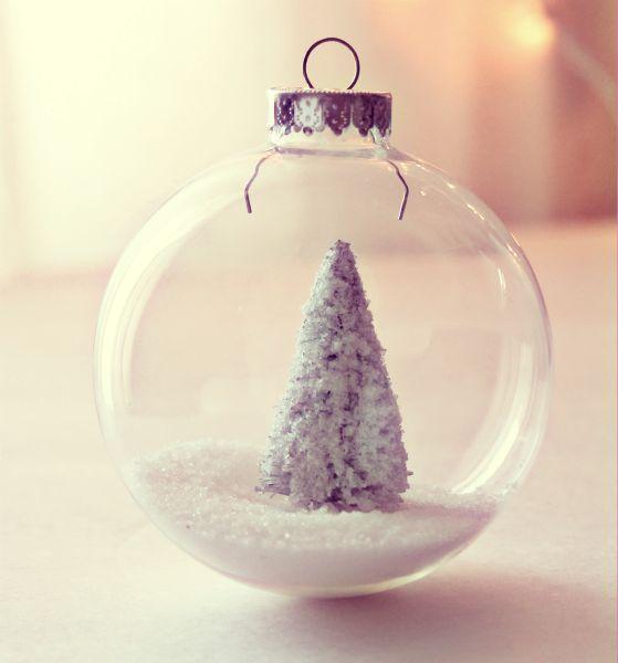 DIY Pretty Sugar Glitter ornament #diy #crafts #ornament #christmas