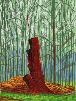 David Hockney, 'The Arrival of Spring in Woldgate, East Yorkshire in 2011 (twenty eleven) - 25 February,' 2011, Annely Juda Fine Art