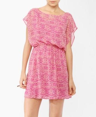 engagement photos dress? Batik Print Dress | FOREVER21 - 2000044793