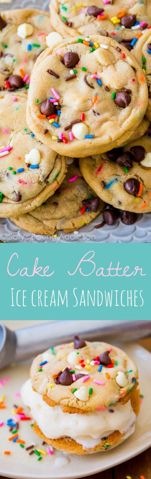 Cake Batter Cookie Ice Cream Sandwiches will be your new favorite summer treat!