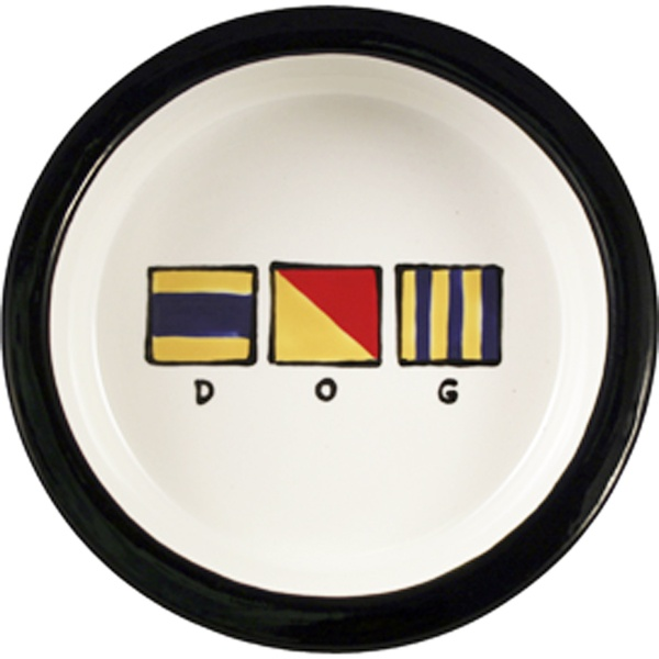 #Nautical Flags Ceramic Dog Bowl, maybe your dog can read flags