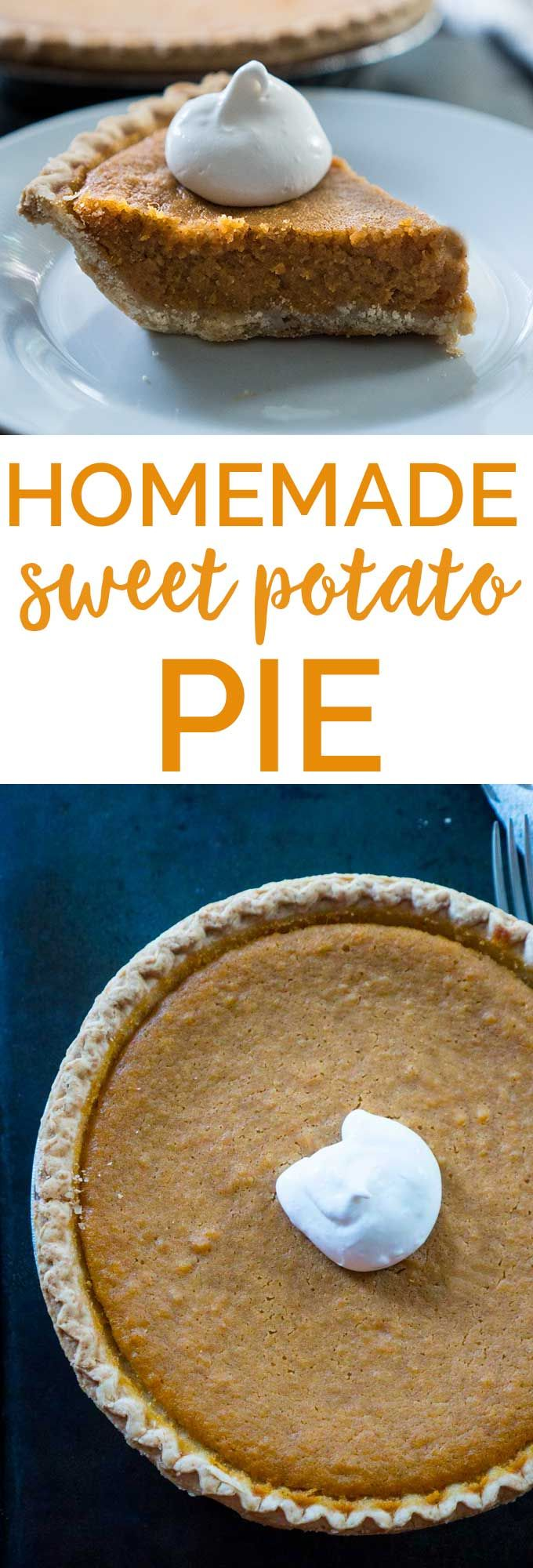 Homemade Sweet Potato Pie is easier than you think! This classic Southern dessert recipe is perfect for the holidays! #recipe #pie #dessert