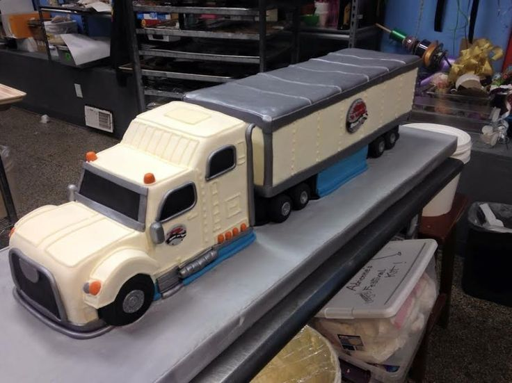 Semi Truck Cake - Adrienne & Co. Bakery