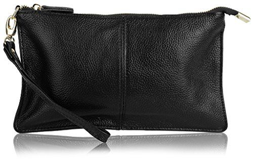 Women's Fashion Wristlets YALUXE Women's Real Leather Large Wristlet Phone Clutch Wall...