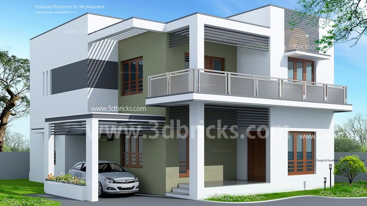 Elevations of residential buildings in indian photo for House balcony design pictures