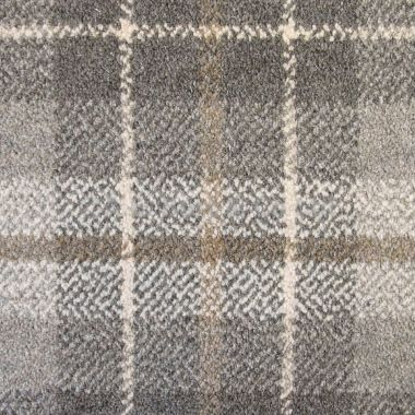 Basement carpeting -- Hugh Mackay Tartan Tonal Plaid £44.99 per m2