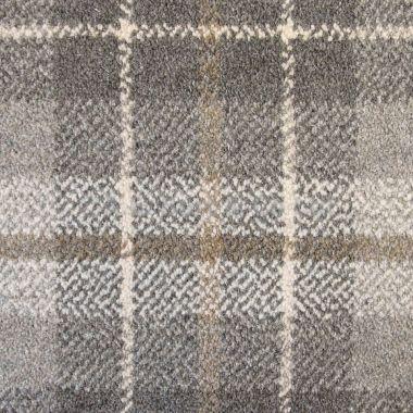 Basement carpeting -- Hugh Mackay Tartan Tonal Plaid £44.99 per m2
