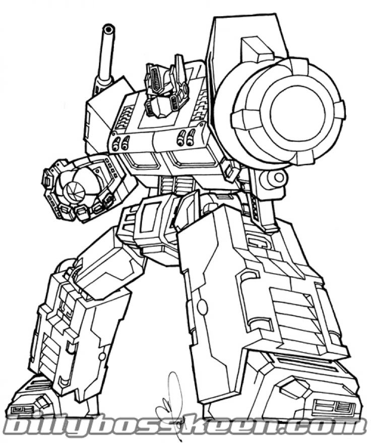 transformer coloring pages optimus prime | Free Optimus Prime coloring pages for older kids