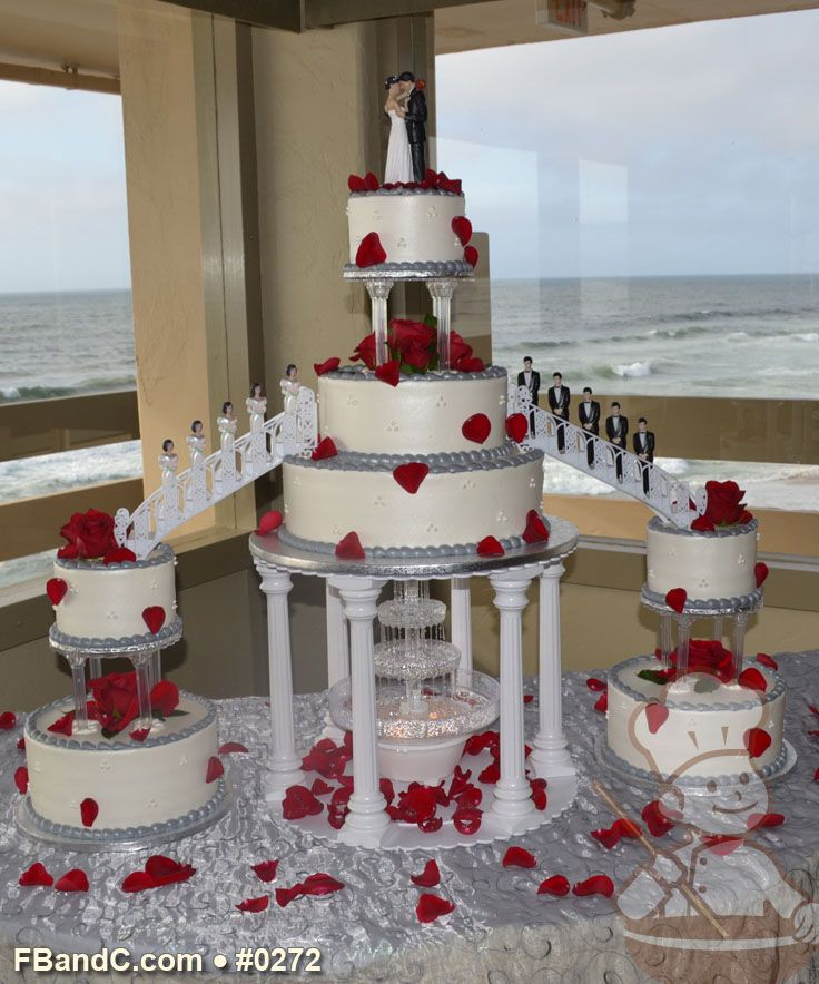 Beautiful Y Wedding Cake Toppers Thin 50th Wedding Anniversary Cake Ideas Square Alternative Wedding Cakes Funny Cake Toppers Wedding Youthful Wedding Cake With Red Roses BlueLas Vegas Wedding Cakes 14 Best Wedding Cakes Images On Pinterest | Biscuits, Fountain ..
