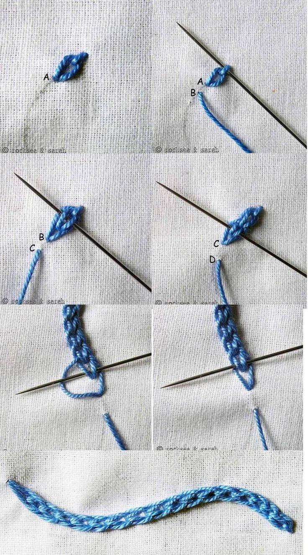 braided chain stitch