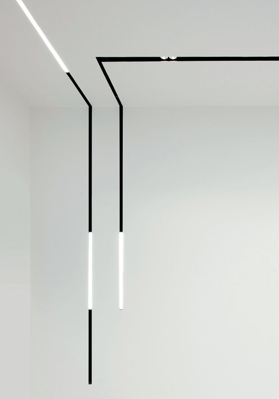 Minimalist lighting design, Splitline 29 track system by Delta light _