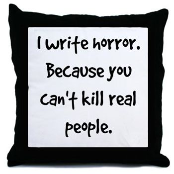 Throw Pillow  Gifts for horror writers.