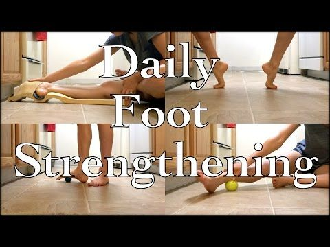 Ballet At Home: Follow Along Daily Foot/Ankle/Arch Strengthening Routine + Ballet Foot Stretch Demo - YouTube