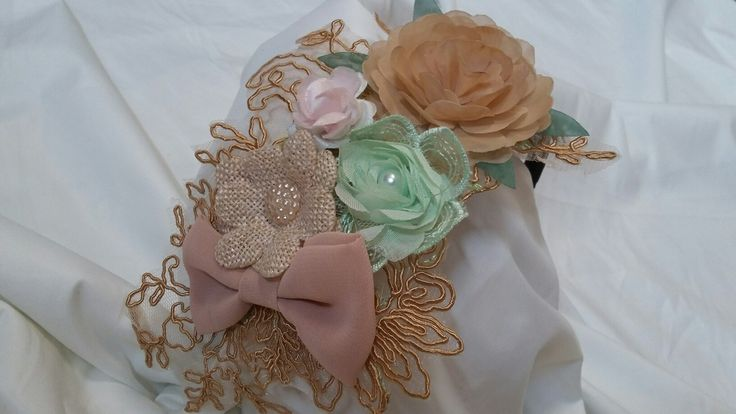 Lace and flower head piece