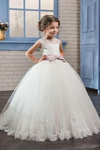 Girls Occasion Kids Flower Princess Lace Wedding Party Pageant Communion Dresses