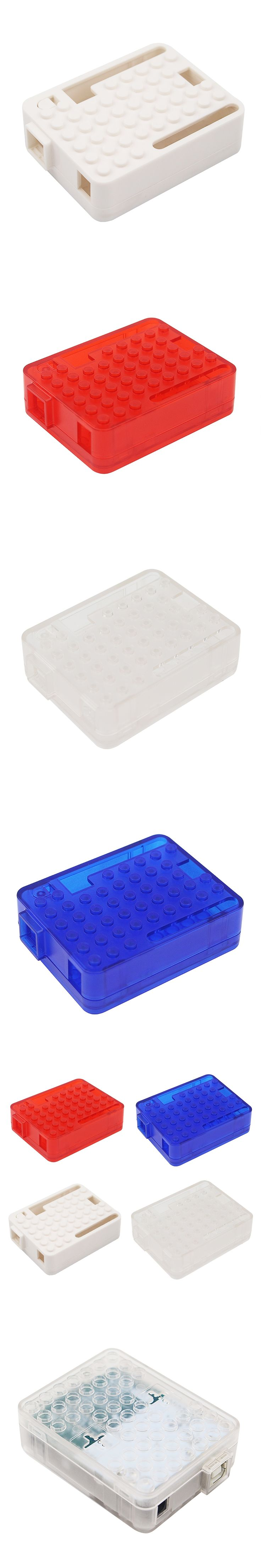 Newest ABS Case for UNO R3 Red Blue White Transparent Plastic Box Shell for Arduino UNO R3
