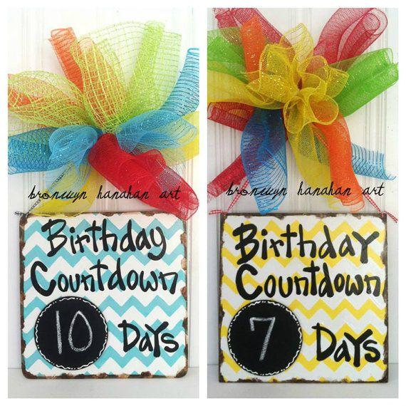 Birthday Countdown Sign  Bronwyn Hanahan Art by BronwynHanahanArt, $38.00