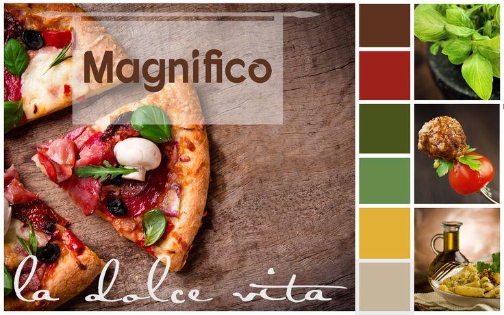 Magnifico olasz-magyar étterem - moodboard