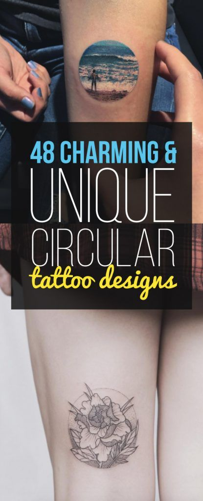 48 Charming & Unique Circular Tattoo Designs | TattooBlend