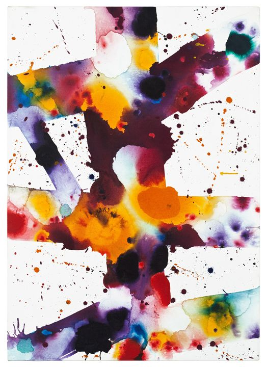 Sam Francis, Untitled (SFF.630), 1973. Acrylic and oil on canvas, 42 x 30 inches. Collection: Sam Francis Foundation, California. Artwork © Sam Francis Foundation, California/ Artists Rights Society (ARS), New York.