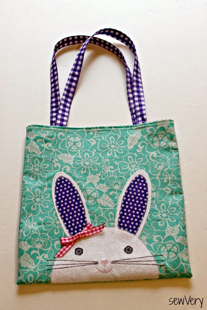 Bunny Bag Face Tote Bag Sewing Pattern by Sew Very