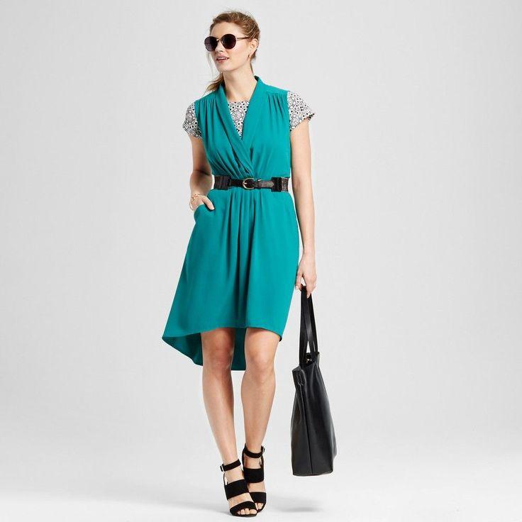 Women's High Low Dress Windward Green Xxl - Merona
