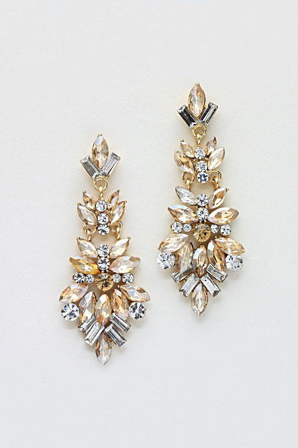 Marquise Chandelier Earrings in Colorado Topaz on Emma Stine Limited
