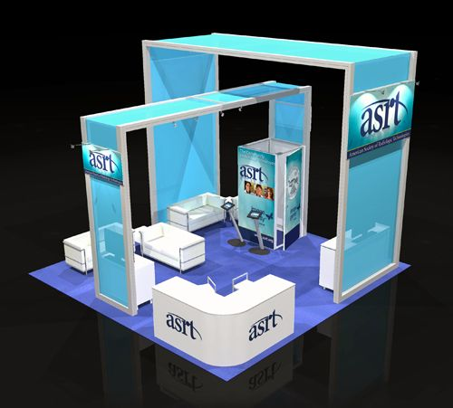 Exhibition Booth Area : Custom rental exhibit four our client asrt at the