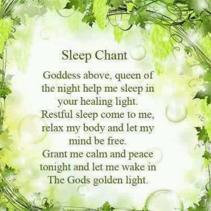 pagan morning blessings | wiccan bedtime prayers | Sleep Chant. Pagan. Wiccan.. Lovely prayer ...