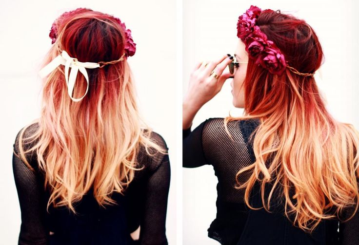 Not really thinking of going blonde, i just thought this red and blonde ombre look good