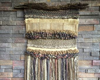 Woven wall hanging by Telaresyflecos on Etsy