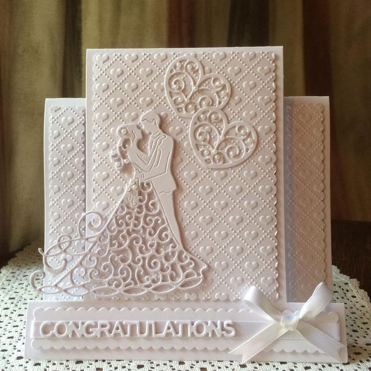 Wedding or Engagement design Tattered Lace dies #imadethis #cards #handmadecards #tatteredlace. Embossing folder by Crafters Companion, Dies by Tattered Lace