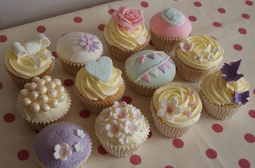 vintage Pastel cupcakes: Wedding Cupcakes, Vintage Cupcakes, A Little Princess, Teas Parties Treats, Cups Cakes, Pastel Cupcakes, Cupcakes Rosa-Choqu, Vintage Style, Fondant Cupcakes