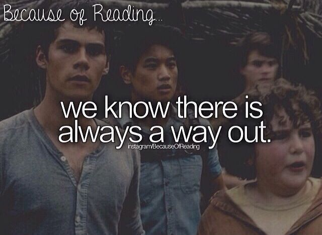 Because of Reading... Book: the maze runner