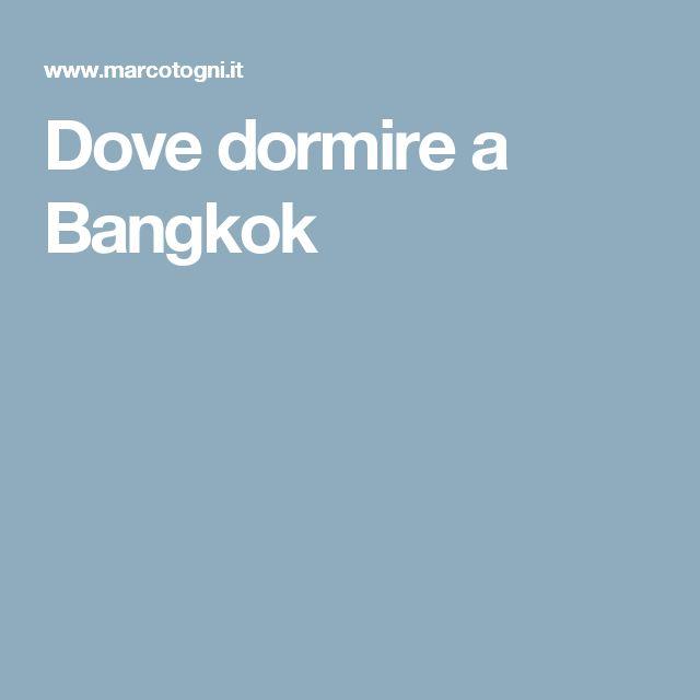 Awesome Dove Soggiornare A Bangkok Gallery - dairiakymber.com ...