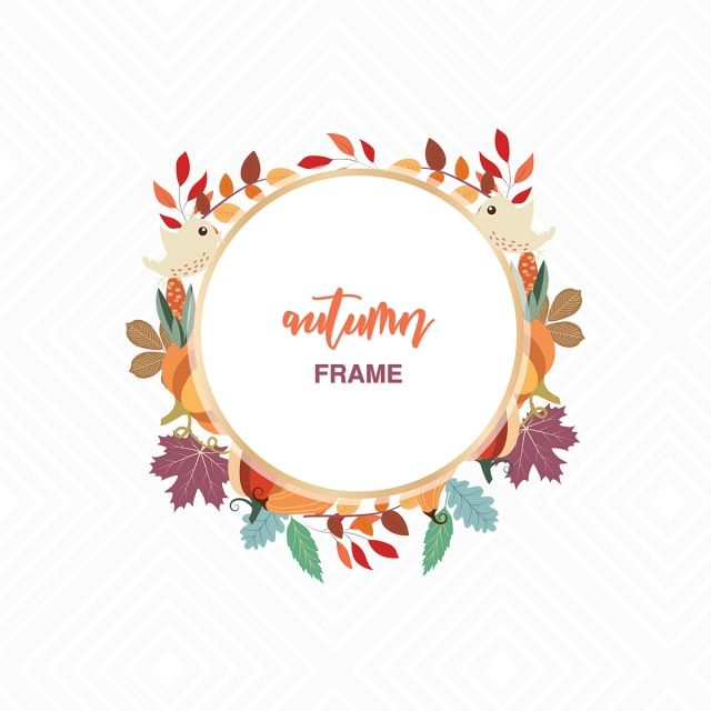 Autumn Flowers Transparent Vector Frame Autumn Clipart Autumn Flowers Png And Vector With Transparent Background For Free Download Watercolor Printable Art Digital Flowers Fall Wallpaper