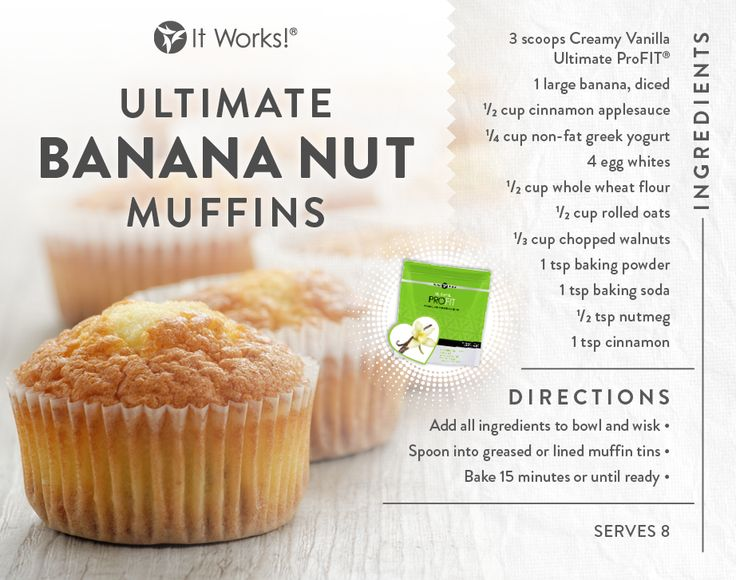 Bananas & Nuts + Ultimate ProFIT = #bettertogether It Works - That Crazy Wrap Biz Get your ProFIT here www.CrazyWrapBiz.com