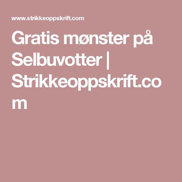 Gratis mønster på Selbuvotter | Strikkeoppskrift.com