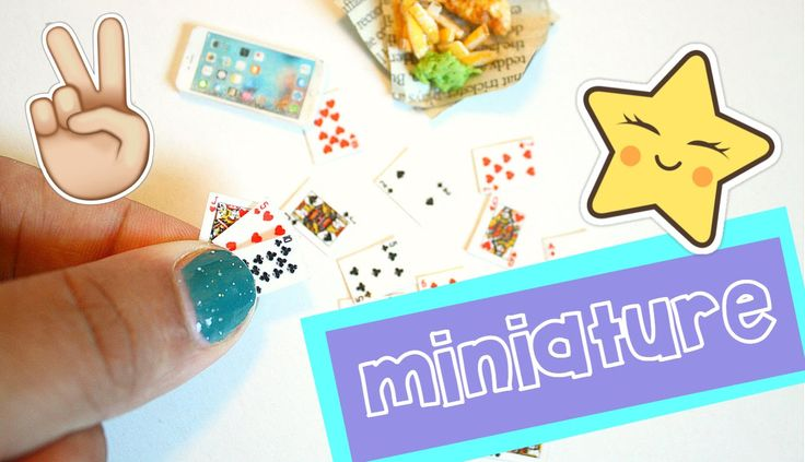 EASY DIY miniature playing cards   Dollhouse Miniatures