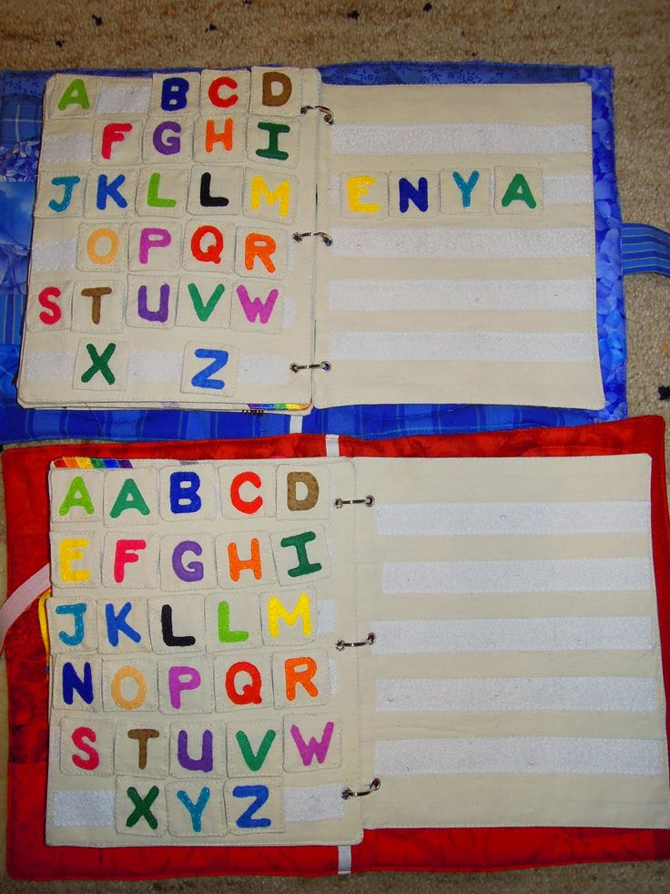 alphabet quiet book pages - could use this for when they get older and start spelling!
