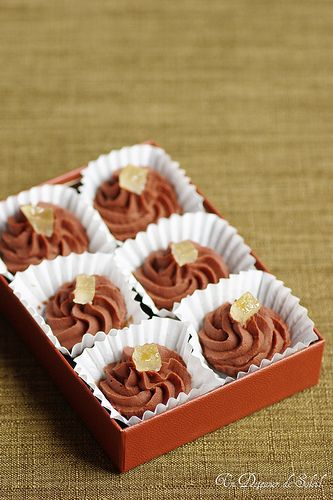 Chocolate and Limoncello truffles