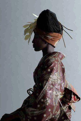 African pattern Kimono