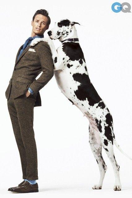 Eddie Redmyane models for GQ US ADORE the Harlequin!!