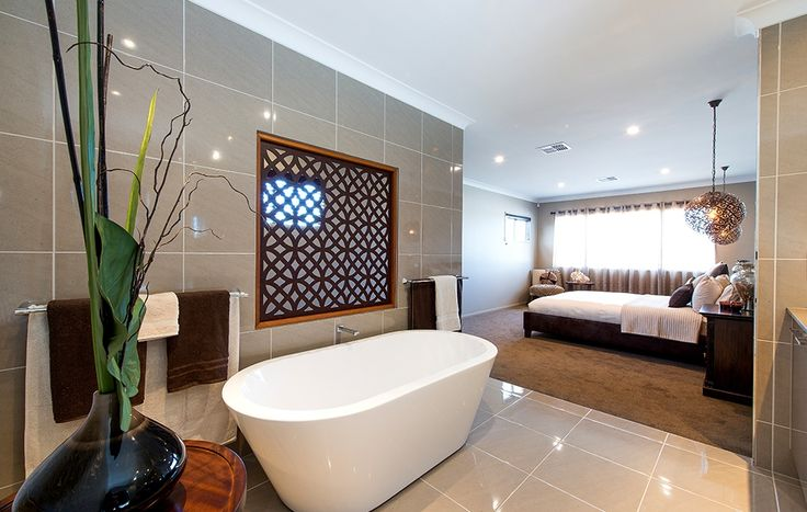 Bath Tub Wall Tiles Open Master Bedroom Bathroom Wall Feature Lighting G J Gardner Homes