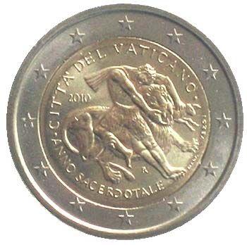 """Moneta Celebrativa """"Anno sacerdotale"""" Anno: 2010 Stato: Città del Vaticano"""