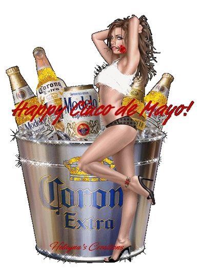 Happy Cinco De Mayo Corona | Happy Cinco De Mayo a Girl and a Bucket Of Corona Extra Beer