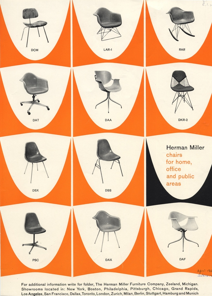 Chairs for the Home Office, 1959.